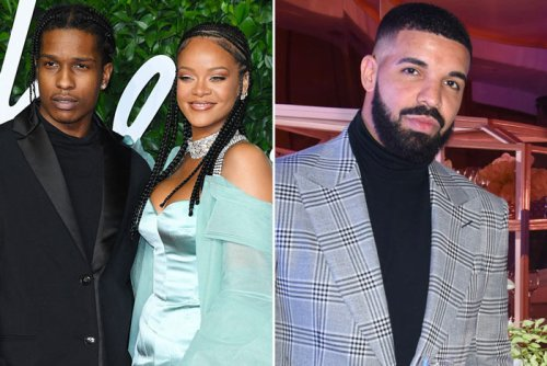 Rihanna and A$AP Rocky Party with Drake