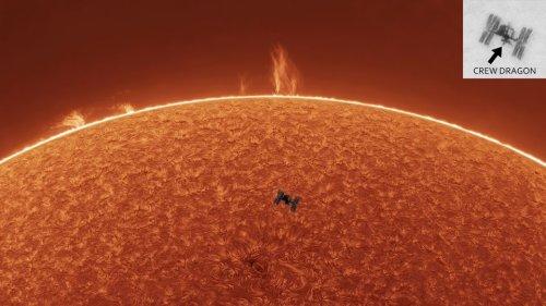 APOD/NASA: Uzay İstasyonu, Güneş Patlaması, Güneş