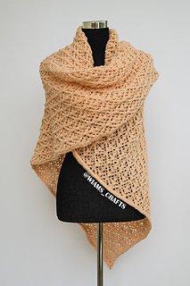 Cozy Blankety Shawl pattern by Wiam's Crafts