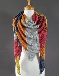Spring Sampler Shawl pattern by Nordic Yarn Imports