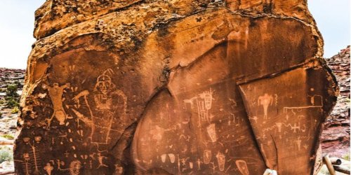 Racist vandals defaced 2,000-year-old Native American petroglyphs in Utah -- but struggled to spell the word 'white'