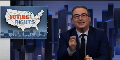 A Texas Republican urged people to 'read the bill' to prove voter suppression — so John Oliver did it