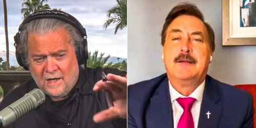 'Be realistic': Steve Bannon clashes with Mike Lindell over 'fantasy' of overturning election at Thanksgiving
