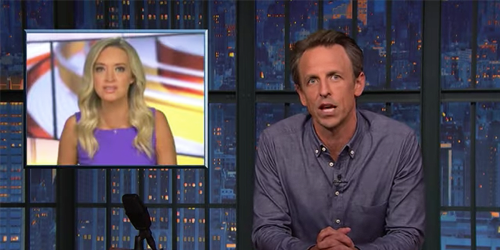 Seth Meyers takes down 'shameless' Kayleigh McEnany 'who's still on TV lying for a living'