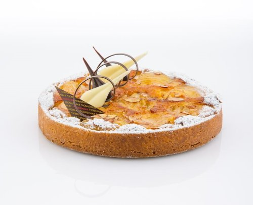 Pear Almond Tart with Blackcurrant