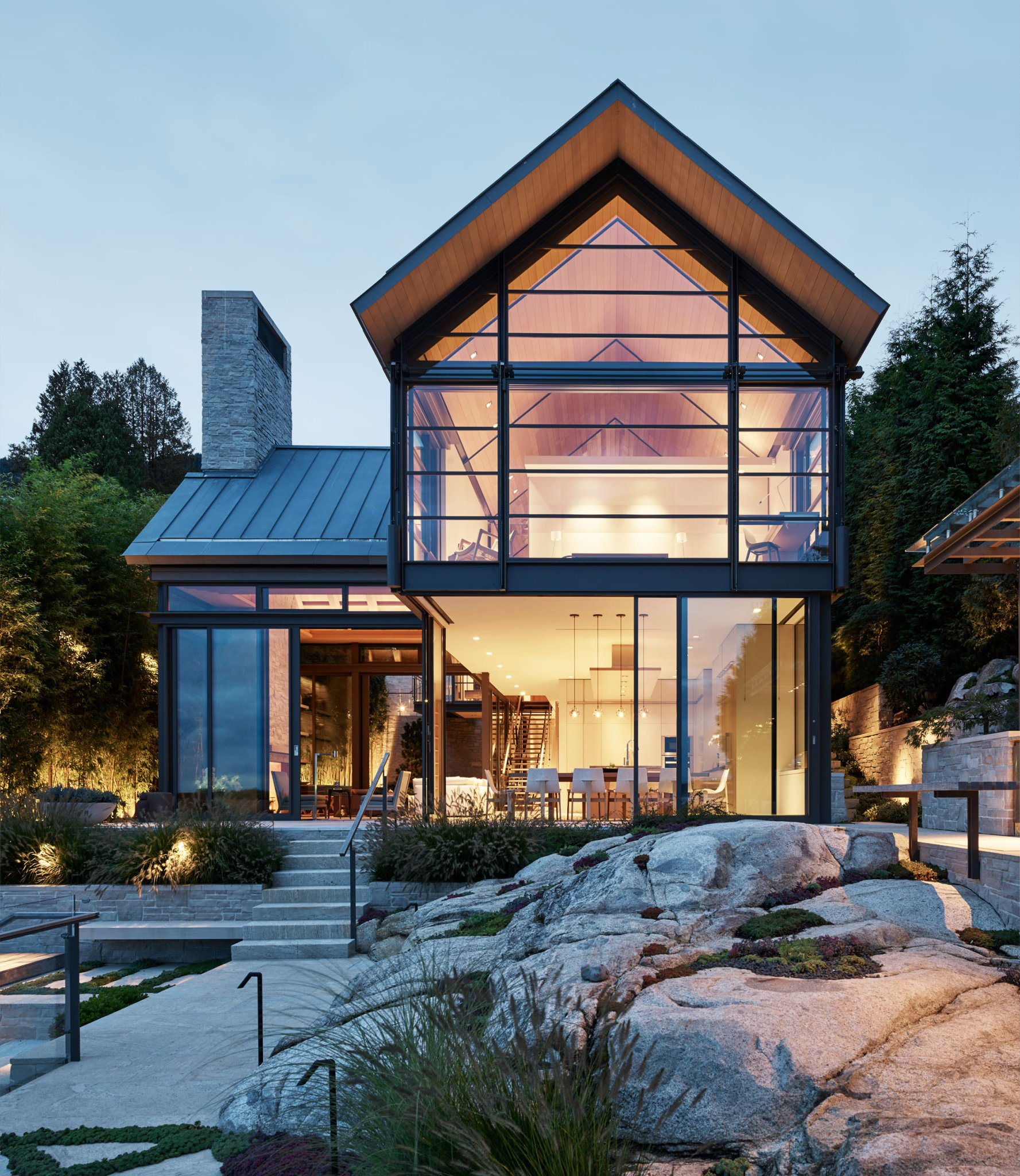 Sitting on the Ocean's Edge in West Vancouver's Sea House