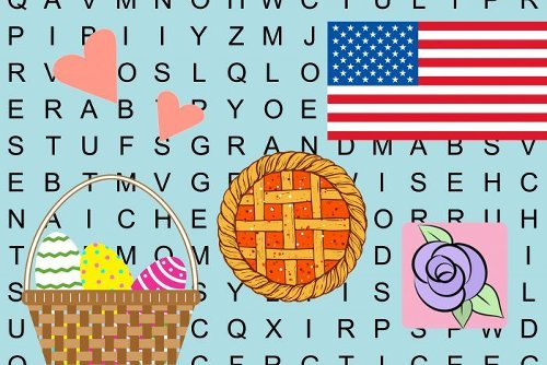 24 Free Holiday Word Searches