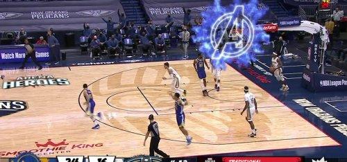 Marvel Heroes Invade ESPN's NBA Broadcast of Warriors vs. Pelicans Game via AR
