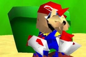 So sieht Super Mario 64 also total zerstört aus