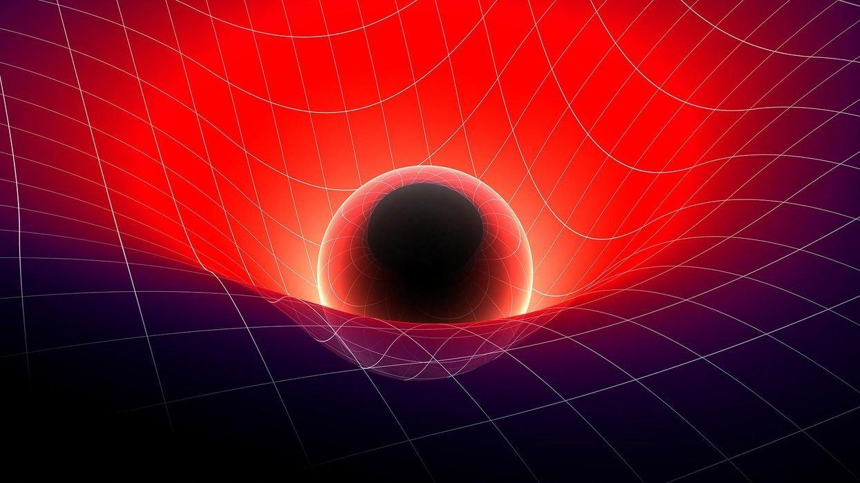 Peeking behind a black hole: how matter bends space that bends light