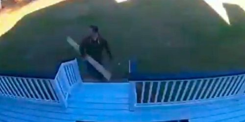 Guy's Painful Deck Repair Fail Looks Like Something Straight Out Of A Cartoon