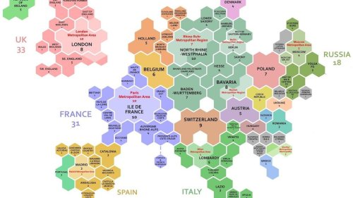 These 1,000 hexagons show how global wealth is distributed