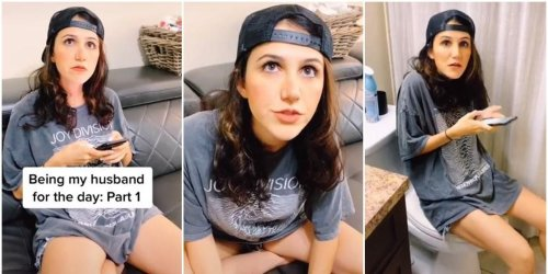 Mom's funny impression of her husband proves that 'all women are married to the same guy'