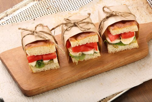Ham and Rocket Sandwiches
