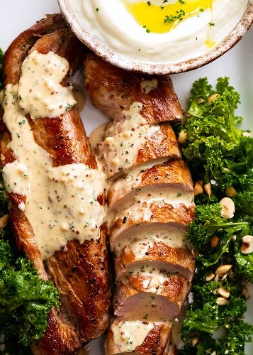 Pork Tenderloin with Creamy Mustard Sauce