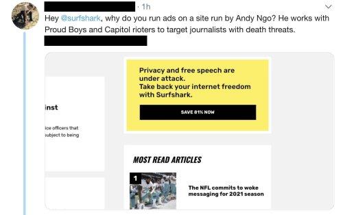 Surfshark pulls sponsorship of news outlet over tweet