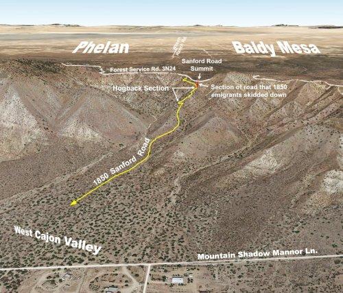 Tracing the treacherous Sanford Road in the Cajon Pass