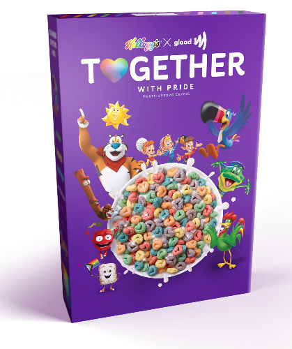 Kellogg's & GLAAD Collabed on This Glitter-Covered Cereal for Pride Month