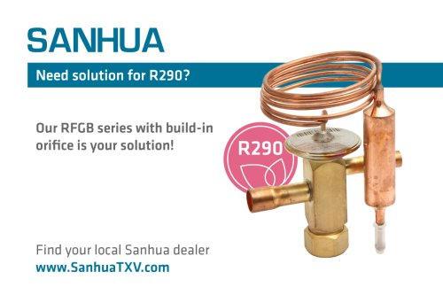 Sanhua presented thermostatic expansion valve with fixed orifices ready for propane