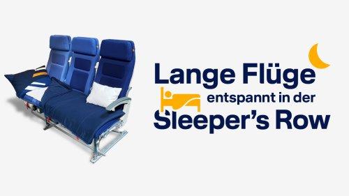 """Lufthansa bietet Passagieren die Möglichkeit, eine """"Sleeper's Row"""" zu buchen"""