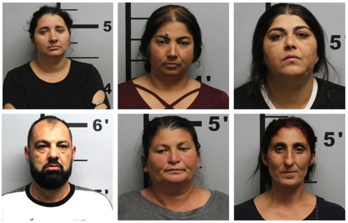 Six arrested in burglary of an Arkansas Buddhist temple, in what may be a nationwide spree