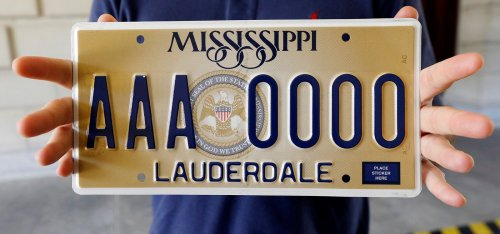 Atheist and humanist groups sue Mississippi over state's 'In God We Trust' license plate