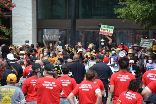 Hundreds arrested at Capitol while protesting for voting rights, minimum wage