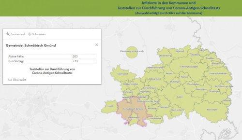 Das Infektionsgeschehen in den Gemeinden im Ostalbkreis
