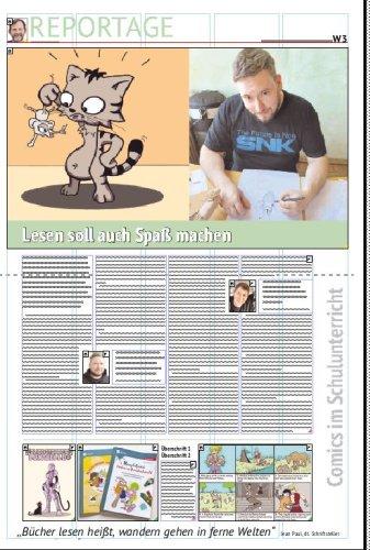 Comics in der Schule: Mark Wamsler will Spaß am Lesen vermitteln