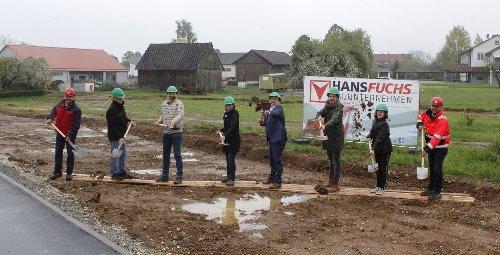 Eschacher Kindertagesstätte: Zweiter Spatenstich markiert Hochbau-Beginn