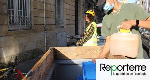 À Bordeaux, pipi et caca se recyclent à vélo