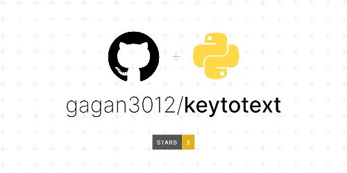 gagan3012/keytotext