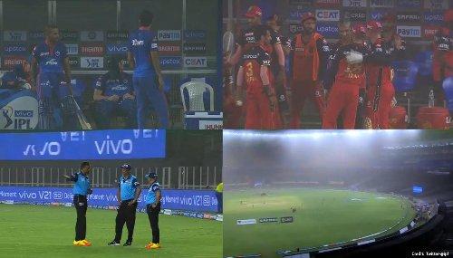 IPL 2021 sees a Sandstorm halt play between DC-RCB at Ahmedabad; rare video thrills fans