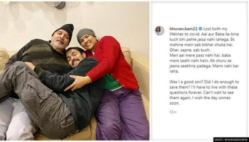 Bhuvan Bam loses his parents to COVID-19; shares heart-wrenching note on Instagram