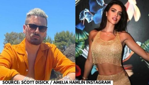 Scott Disick surprises girlfriend Amelia Hamlin with diamond necklace on her birthday