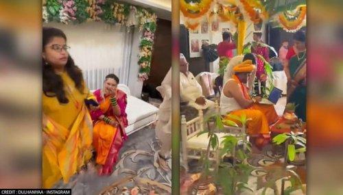 Groom works on laptop at 'mandap', his bride's reaction leaves internet in splits; WATCH