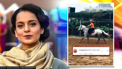 Kangana Ranaut documents horseback riding session, fans hail her as 'Jhansi ki Rani'