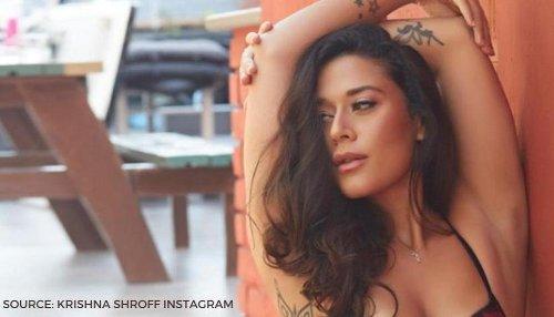 Krishna Shroff flaunts her hip tattoos in new black and white bikini post on Instagram