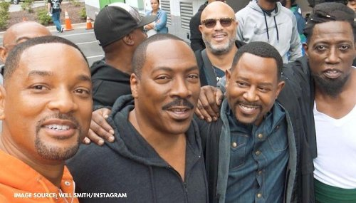 When Will Smith bumped into Eddie Murphy & Martin Lawrence on sets of 'Coming 2 America'