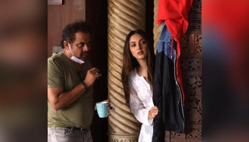 'Bhool Bhulaiyaa 2': Kiara Advani's look revealed by director in BTS pic from the sets
