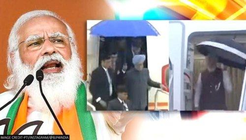 BJP pits PM Modi vs Manmohan Singh 'difference' in 'umbrella' comparison; Netizens react