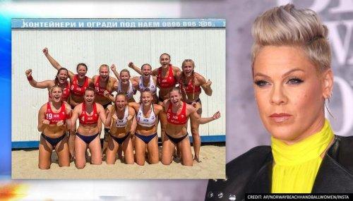 Pink offers to pay IHF's 'sexist dress code' fine against Norwegian Women's Handball Team