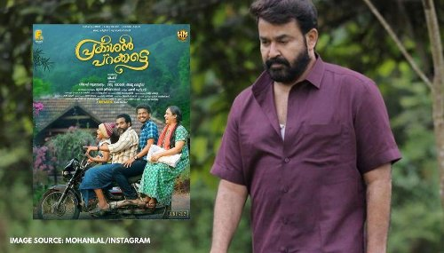 Mohanlal shares the poster of Mathew Thomas's upcoming family drama 'Prakashanparakatey'