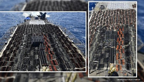 US Navy seizes 1000s of military-grade weapons from sailing boat heading to Yemen