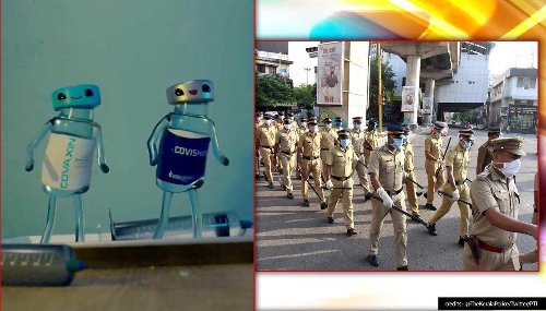 'Crush the curve': Kerala Police urge people to get vaccinated, netizens laud creativity