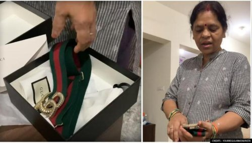 'I could have gotten this for Rs 150': Indian mom roasts 35k Gucci belt, video goes viral