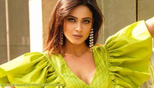Shweta Tiwari enthralls fans through her latest photoshoot in green ruffle dress