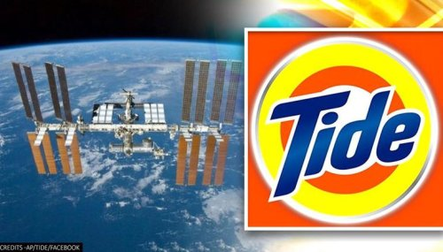 NASA partners with detergent brand to facilitate washing clothes in Space
