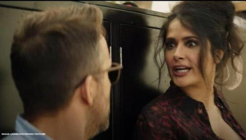 """Salma Hayek gets Ryan Reynolds out of """"official sabbatical"""" in 'Hitman's Wife's Bodyguard'"""