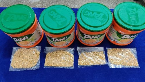 Chennai: Customs officials seize 2.5kgs of gold granules hidden in juice mix
